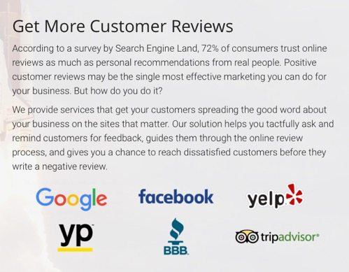 on-core ventures CTA for online reviews