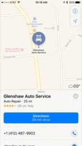 Online reviews show up on map