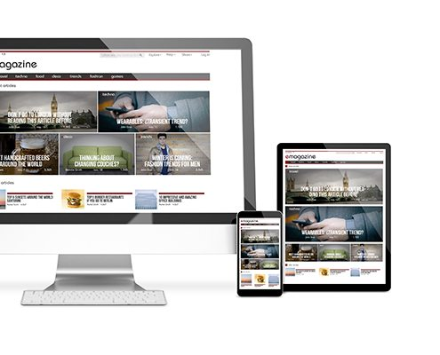 website development and support responsive design