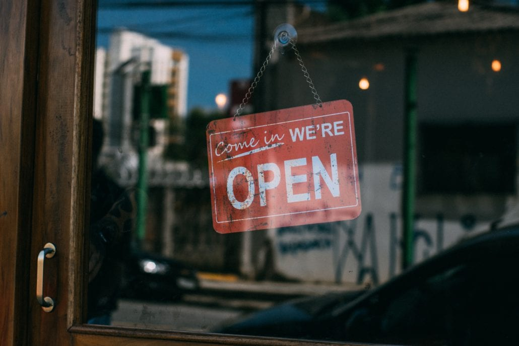 Small Business we are open
